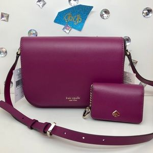 Kate♠️Spade Nadine Shoulder Bag + Wallet Rhubarb